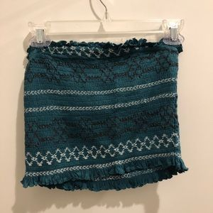 Urban Outfitters - Green Ruffled Crop Top